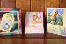 Handmade Cards by Marcia / Xmas cards with doilies, smudging & 3D designs