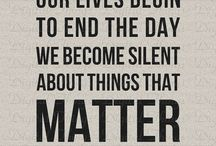 Silence matters / Important to remember