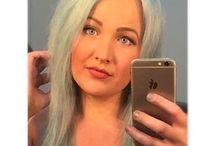 Pastel blue green aqua teal hair