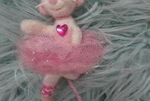 ballerina mouse nutcracker mouse needle felted mouse