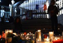#PrayForParis em Lisboa / Manifestação pelas vítimas dos atentado de Paris na Praça do Comércio, em Lisboa. (14/11/2015)