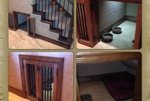 Under stairs dog room ideas