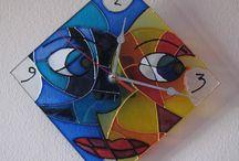 Vetro decorato a mano - Glass hand painted / Le mie decorazioni su vetro - My glass decoration