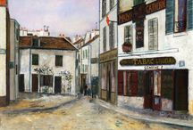 Maurice Utrillo / Maurice Utrillo (26 December 1883 – 5 November 1955) was a French painter who specialized in cityscapes. Born in the Montmartre quarter of Paris, France, Utrillo is one of the few famous painters of Montmartre who were born there. / by Ekaterina Shmeleva