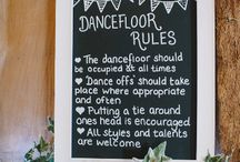 Dance floor rules / Notice board