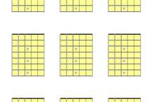 Printable blank guitar fretboard diagrams / Printable blank guitar fretboard diagrams