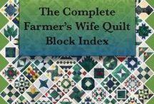 Farmer's wife quilt blocks