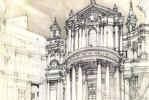 Pencil Architectural Drawings
