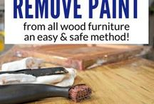 How to remove paint or varnish on furniture