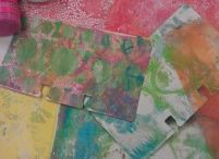 Gelli Arts Prints / Photos and projects made using the Gelli Arts printing plate