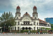 "Lawang Sewu - Semarang - Indonesia / Lawang Sewu (""Thousand Doors"") is a landmark in Semarang, Central Java, Indonesia, built as the headquarters of the Dutch East Indies Railway Company. The colonial era building is famous as a haunted house, though the Semarang city government has attempted to rebrand it. Lawang Sewu was designed by Cosman Citroen, from the firm of J.F. Klinkhamer and B.J. Quendag... #architecture #asia #building #centraljava #city #cityscape #dutch #history #indonesia #java #lawangsewu #old #semarang #travel"