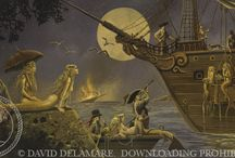 Mermaid Paintings (by David Delamare) / Sharing this mermaid artwork is authorized (on Pinterest only) if our description is used without alteration. Pins that do not meet these guidelines will be removed. (Thanks for respecting copyright!)