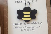 Bumble bee invitation ideas / by Madeline Morcelo