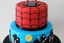 Pókember torta