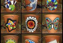 Mosaikk på leirpotter