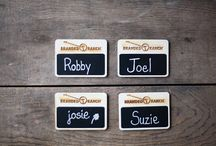 Business Signage!  Name Tags, Chalkboard Signs, and More!