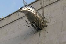 Giant bug sculpture influences