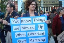 Librarians and Activism / The core values of librarianship support democracy, access, diversity, intellectual freedom, education, lifelong learning, as well as supporting the public good.  When these values are threatened, social activism is sometimes needed.