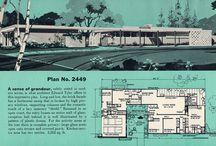 Mid-Century Modern Floor Plans