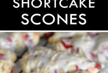 Sweetness Strawberries and Shortcake Scones