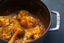 Curry de lotte au cognac