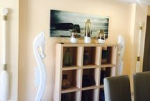 My beach house / Just my little piece of paradise by the blouberg beach front in Cape Town . All decor done my moi