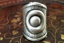 Silver Rings, Engraved Hammer Ring, Oxidised Ring, Boho Silver Ring, Hippie Ring, Tribal Ring