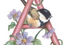 Pássaro de aquarela