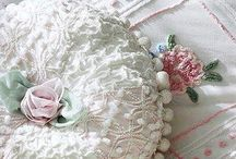 Shabby chic pillows &linens