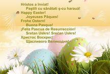 Happy Easter!  Joyeuses Pâques!  Frohe Ostern!  Buona Pasqua!  ¡Feliz Pascua de Resurrección!