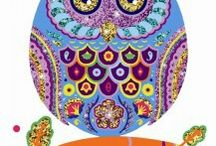 Owls / purple owl for touch of purple for office coordinates with rug