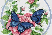 Haft Krzyżykowy - Motyle, Biedronki i Owady