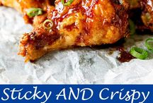 Sticky chicken