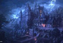 Fantasy, landscapes, cities, castles, girls  mixed pictures / Vegyes  képek, fantázia.. válogatás..