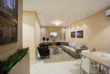 Decorado Diamond / Conheça os ambientes do apartamento decorado e do salão de festas do Edifício Pérola, empreendimento da Construtora Diamond, executados por nós.