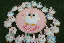 Corujice / Corujinhas em feltro e em tecido para decoração de festas e quartos infantis.