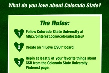 I Love CSU! Pin-to-Win / Colorado State University is runs its I Love CSU! Pin-toWin contest April 5 to April 19. See contest rules for more details.