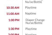 Baby feed sleep routine sample