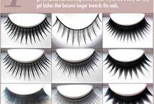 Applying Eye Lashes