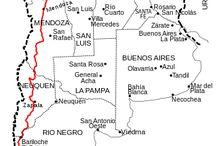 Transporte en Argentina / El transporte en Argentina está basado en una compleja red de carreteras, cruzado frecuentemente por autobuses y por camiones de carga. El país contiene numerosos aeropuertos internacionales y nacionales. La importancia del tren en trayectos de larga distancia es menor hoy en día, aunque fue prioritario en el pasado. El transporte marítimo es muy usado para el transporte de mercancías. + Info : https://es.wikipedia.org/wiki/Transporte_en_Argentina