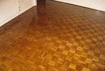 Bedroom With Basketweave Wooden Flooring Installed & Sanded / Client: Private Residence In East London. Brief: To supply & install wood flooring.