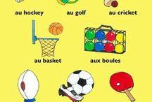 French - Vocab (Sports) / by Jenn Campanella