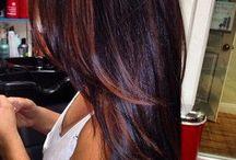 Colours hair