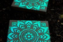glow in the dark backyard projects