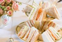 TEA sandwiches / w w w . v i n t a g e d i s h r e n t a l . c o m / by Vintage Dish Rental