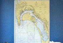 Vintage Nautical Wall Charts