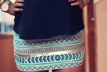 aztec beaded skirt