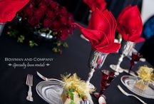 Black and Red Wedding Inspiration