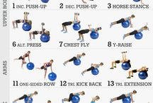 Exercise / Medicine ball, slim exercises, butt workout, Strong core, Flat abs, band exercises, Energy, Workout poster
