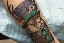 Alice in wonderland Tattoos / http://fabulousdesign.net/alice-in-wonderland-tattoos/